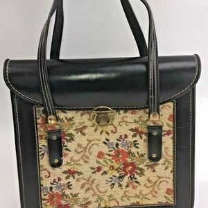 Carpet Bag Floral Tapestry Handbag Purse Vintage